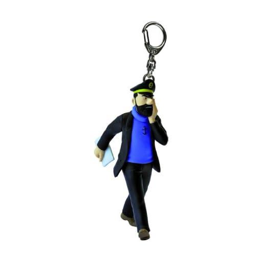Porte clé Haddock avec son journal 11 cm