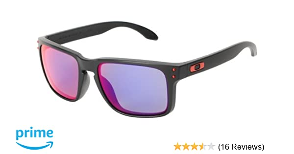 12b7cdee4c ... italy amazon oakley holbrook sunglasses matte black positive red iridium  lens sports outdoors 51452 914fa