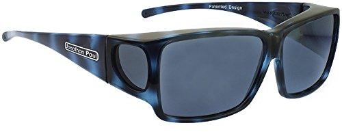 Jonathan Paul® Fitovers Orion Large Polarized Over Sunglasses ; Blue-Demi & Polarvue - Jonathan Sunglasses Paul