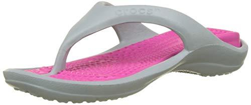 Crocs Athens Flip Flop, Light Grey/Candy Pink, 8 US Men/ 10 US Women M US