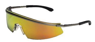 Triwear Metal Protective Eyewear, Fire Lens, Duramass HC, Platinum Frame (3 Pack) -