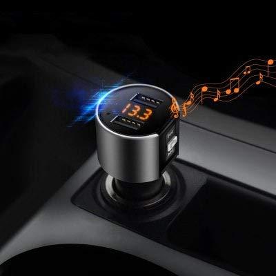 ExcLent Alfawise Dual Usb Puertos Bluetooth 4.2 Cargador De Autom/óvil Fm Transmisor Negro