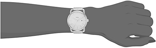 Fossil Women's The Commuter Quartz Stainless Steel Mesh Casual Watch, Color: Silver-Tone (Model: ES4331) by Fossil (Image #1)