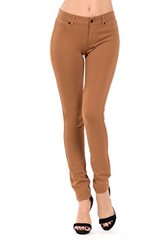 YourStyle Stretchy Slim Fit Skinny Long Jegging Pants(S-3XL) (Large, Bake Mustard) by YourStyle USA