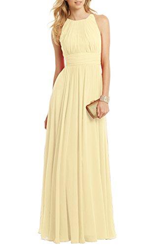 Floor Party Dress Pleated light Custom C u373184 Chiffon Length Women's Ssyiz Yellow Elegant Evening x8RaXwCq