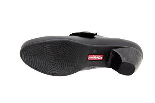 Calzado mujer confort de piel Piesanto 9402 zapato velcro casual cómodo ancho Negro