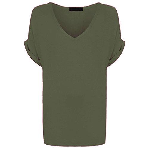 AHR LTD @ - Camiseta sin mangas - para mujer caqui