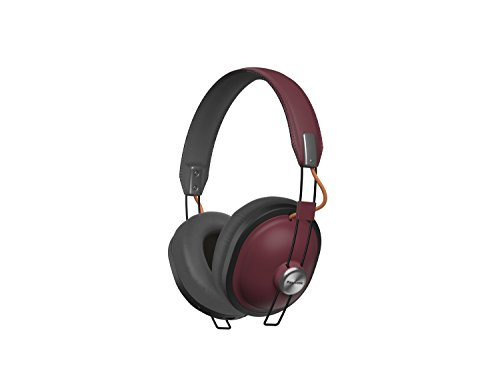 Panasonic Bluetooth (PANASONIC Wireless Retro Over-The-Ear Headphones with Bluetooth 24-Hour Playback Color Sangria (RP-HTX80B-R))