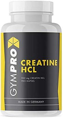 GymPro - Creatin HCL Kapseln (150 Stück) - hochdosiert 900 mg Kreatin pro Kapsel für Bodybuilder und Sportler In deutscher Premium-Qualität I Mehr Leistung im Training I