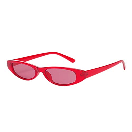 Poids Lunettes Lunettes Étroit de Verres Deylaying de Vintage Protection Coloré Cadre Léger Eye UV400 Soleil Cat Rouge Rouge Minuscule XBqw6vz1q7