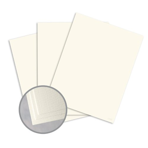 Ivory Linen Cardstock (Loop Linen Ivory Card Stock - 8 1/2 x 11 in 80 lb Cover Linen 100% Recycled 250 per Package)