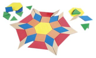 Learning Resources Giant Foam Floor Pattern Blocks, 49 Pieces