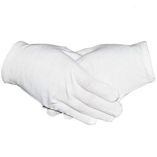 "16 Pairs White Cotton Gloves 8"" Medium Size for"