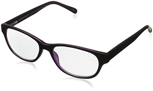 Foster Grant Zera Women's Multifocus Glasses, Black, 1.5