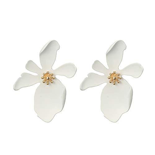 Clearance Deal! Hot Sale! Earring, Fitfulvan 2018 Fashion Jewelry Bohemia Flower Rhinestone Earrings For Women Summer Style Mother's Day Gifts Earrings Jewelry (White-1)