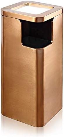 ゴミ袋 ゴミ箱用アクセサリ ホテルのロビーおよびエレベーター、灰皿が付いているゴミ箱のために適した流行および創造的で大きいゴミ箱 キッチンゴミ箱 (Color : Gold)