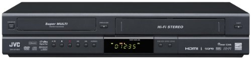 JVC DR-MV80B DVD Video Recorder/VHS Video Cassette Recorder Combination Unit