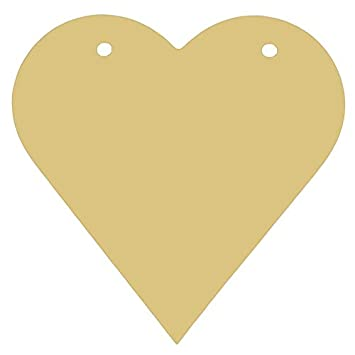 Open Heart Style 1 Unfinished MDF Cutout Variety Sizes USA Made Valentines Day