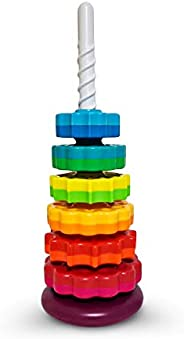 ODELA Spinning Toy – Premium Stacking Toys for Kids - One Year Old Stacking Toys – Rainbow Spinning Wheel Toy