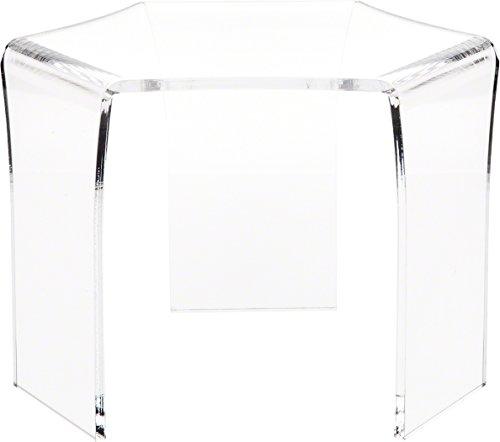 Tri Leg Stand - Plymor Brand Tri-Leg (6 Sided) Clear Acrylic Riser, 7.75