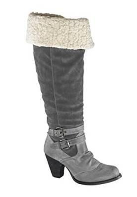 Unbekannt Stiefel - Náuticos Mujer gris - Gris - Gris