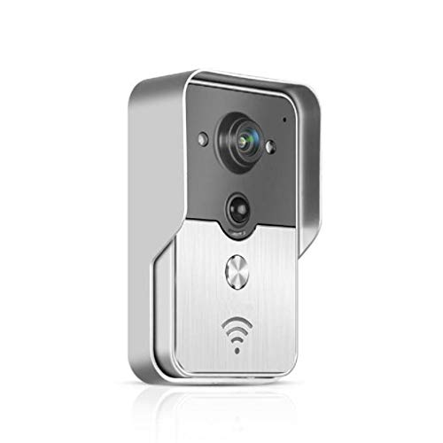 (IslandseWiFi Visual Doorbell Phone Remote Intercom Network Household Villa Silver)