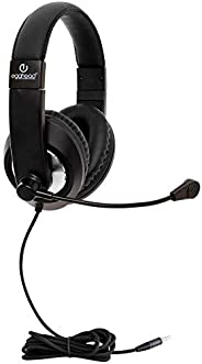 "School Testing Headset w/Boom Microphone & Mobile Ready Plug - 3.5mm (1/8"") Standard TRSS Plug - P"
