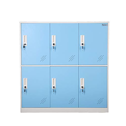 Steel Office Locker Cabinet with Keys, School and Home Storage Locker Organizer,Kids Locker for Cloth and Toy Organizer,Living Room Boy and Girl Metal Storage Locker Cabinet (Blue)