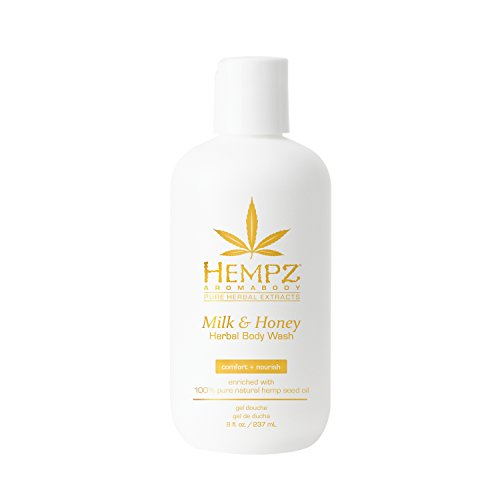 Hempz Milk and Honey Herbal Body Wash, 8 Ounce