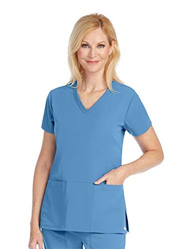 Grey's Anatomy Signature 2115 V-Neck 3 Pocket Top Ciel Blue M