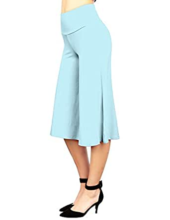 MBJ WB876 Womens Knit Culottes Pants S AQUA