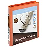 Office Depot(R) Brand Heavy-Duty Easy Open(R) D-Ring View Binder, 1in. Rings, 8 1/2in. x 11in, 250-Capacity, Orange