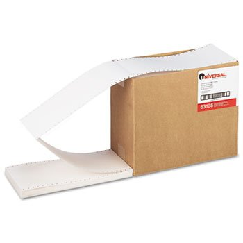 Universal® - Continuous Unruled Index Cards, 3 x 5, White, 4,000/Carton - Sold As 1 Carton - Fanfolded cards with pinhole stubs.
