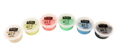 CanDo TheraPutty Plus Anti-Microbial, 6 Piece Set, 3 oz