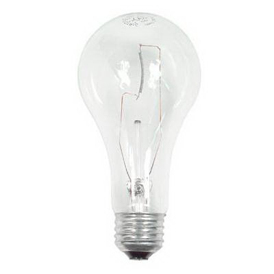 GE Lighting Incandescent Lamp, 150 watt, 120 volt, A21, Medium Screw (E26) Base, 2710 lumens, Clear