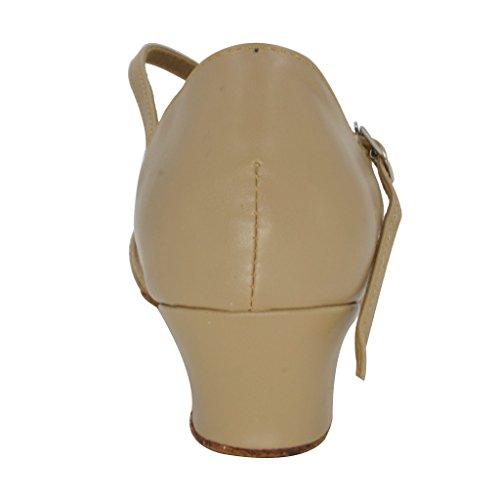 Buge Kvinna Peep Toe Sandaler Latin Salsa Tango Balsal Dansskor Med 1,6 Klack