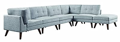 Coaster Home Furnishings 551301 Corner Sofa, Grey
