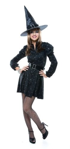 UHC Preteen Girl's Dazzling Witch Outfit Fancy Dress Halloween Costume