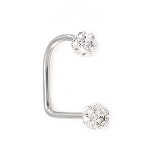 BodyJewelryOnline Lippy Loop Surgical Steel Lip Ring with Ferido Ball ()