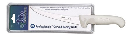 Update International KP-04 High Carbon Stainless Steel Curved Blade Boning Knife, 6-Inch, Set of 12