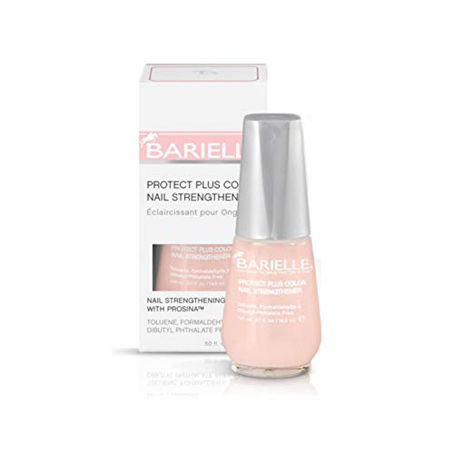 Barielle Protect Plus Color Nail Strengthener, Light Pink, 0.5 Ounce (Cream Barielle)