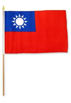 One Dozen Taiwan 12x18in Stick Flags.