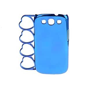 Buy Heart Shaped Rings Style Protective Plastic Bumper Frame for Samsung i9300 , Silver