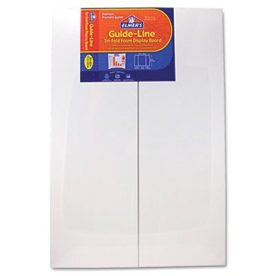 Elmer's 905108 Guide-Line Foam Display Board, 48 x 36, White, 6/Carton