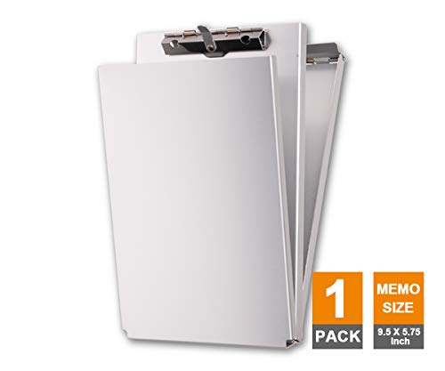 - Summit Tools Dual Storage Aluminum Clipboard - Memo Size (9.5 x 5.75 Inches) Document Holder with Self Locking Latch, Form Clip, 2 Storage Compartment [1- Pack]