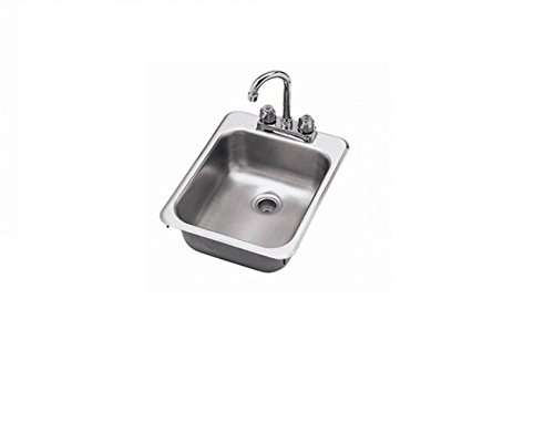 Drop in Sink Stainless Steel One Compartment 12 X 18 x (10 Inch Drop In Sink)