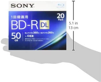 Sony 4/x BD-R DL 20/St/ück 50/GB wei/ß bedruckbar 20bnr2vjps4