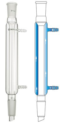 Chemglass CG-1218-07 Series CG-1218 Liebig Condenser, 24/40 Joint, 400 mm Jacket Length, 520 mm Height