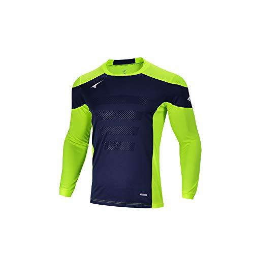 Ucan Soccer Goalkeeper Jersey Padded Goalie Jersey Youth Men Long Sleeve Shirt Green Small