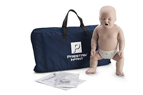 Prestan Infant CPR-AED Manikin with Rate Monitor, Medium Skin (Medium Skin, 1)